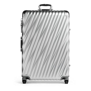 TUMI 19 Degree Aluminum Extended Trip Packing Case in Silver front view
