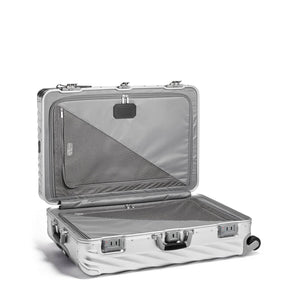 TUMI 19 Degree Aluminum Extended Trip Packing Case in Silver inside view