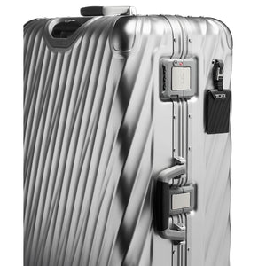 TUMI 19 Degree Aluminum Extended Trip Packing Case in Silver side view