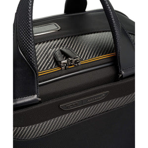 TUMI | McLaren Quantum Duffle in Black magnetic zipper