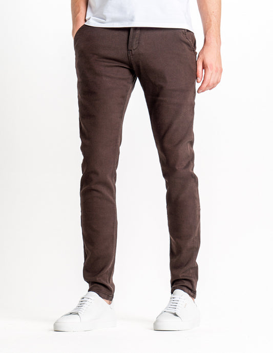 Classic Pants Slim Almond Brown
