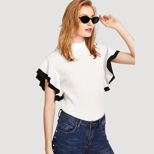 Blusa colorblock white - Pinezca.com