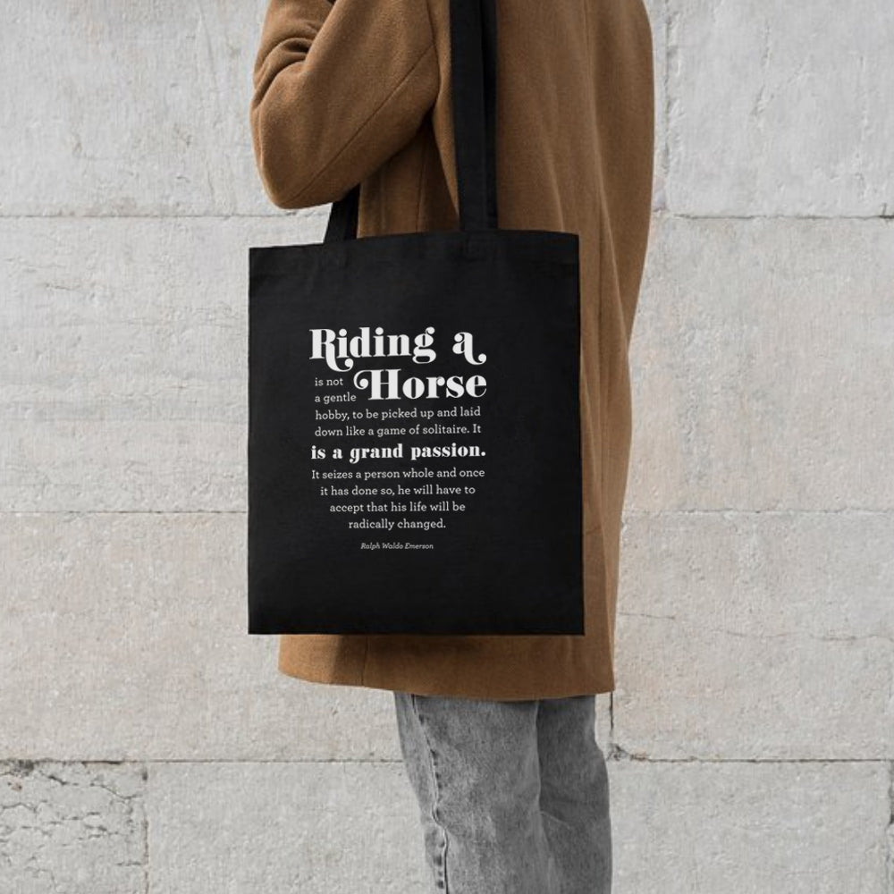 Horse Riding Quote | Cotton Tote