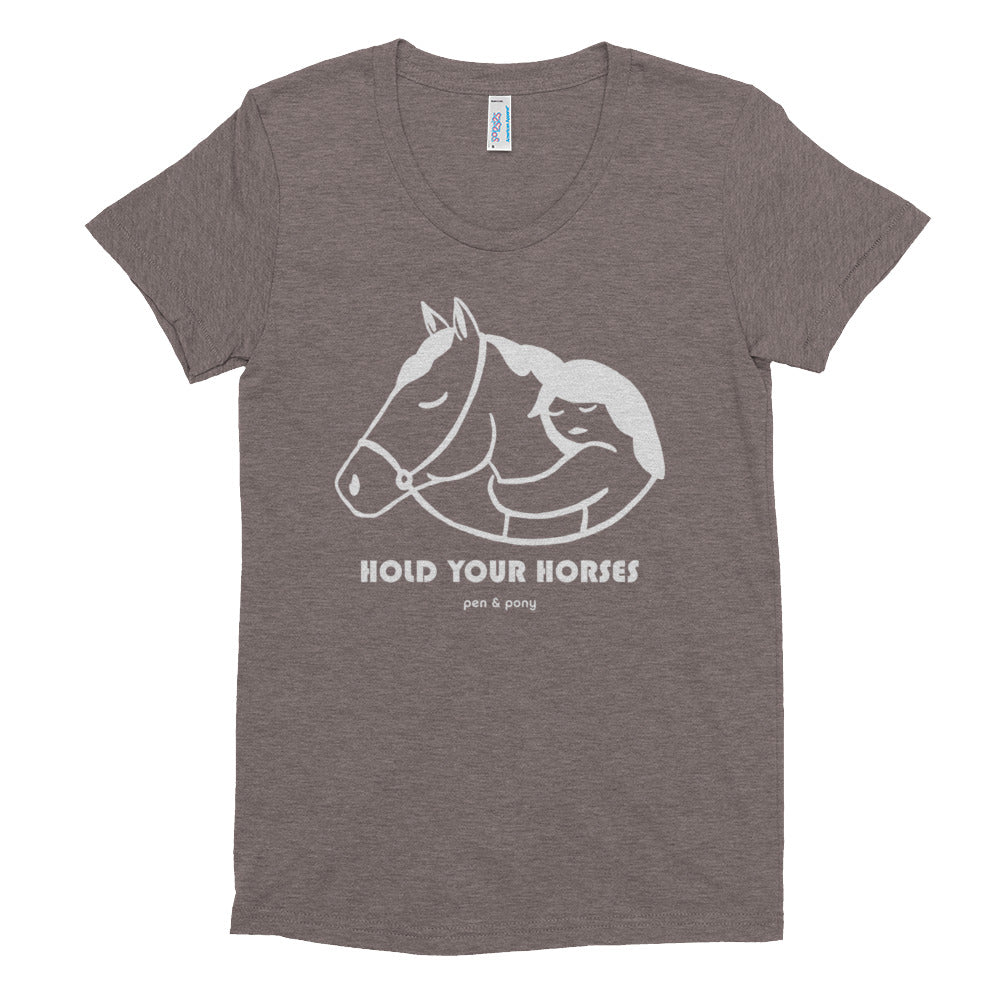 Hold Your Horses Bridled | Fitted Tee