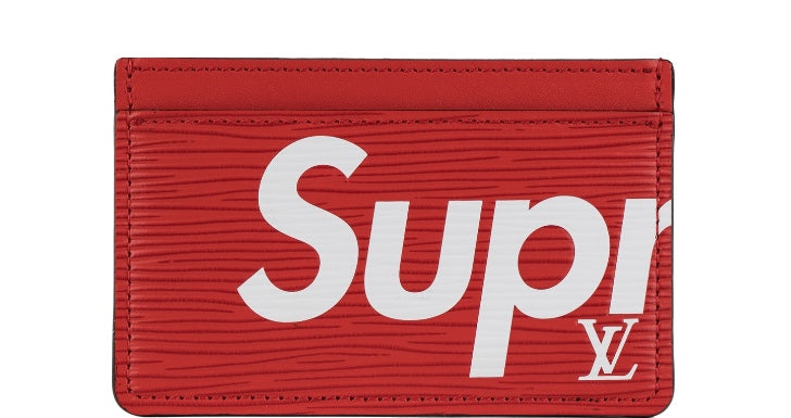 free shipping 93a35 3f0be SUPREME x LOUIS VUITTON CARD HOLDER