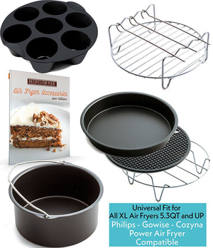 XL Air Fryer Accessories Set of 6 - Fit all 5.3QT & 5.8QT