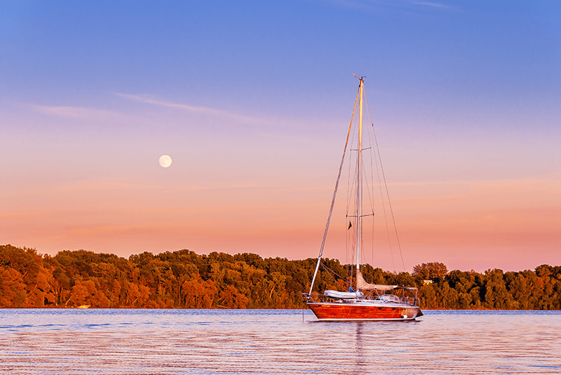 Lavilo™ Greeting Cards - Sailboat at Sunset