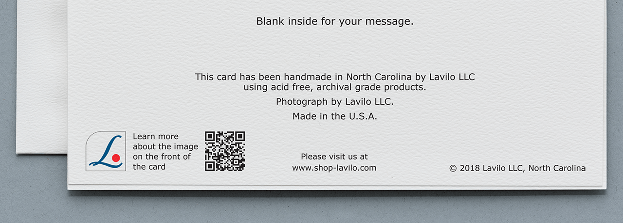 Lavilo™ Greeting Cards - Example of a QR Code