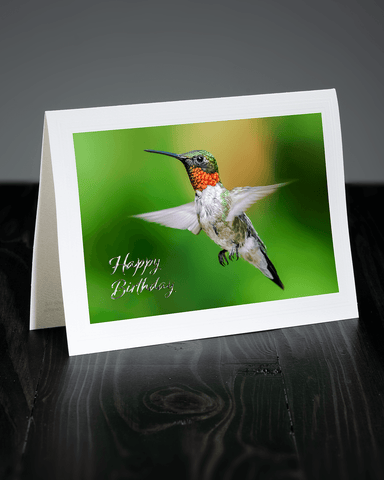 Lavilo™ Greeting Cards - Male Ruby-Throated Hummingbird