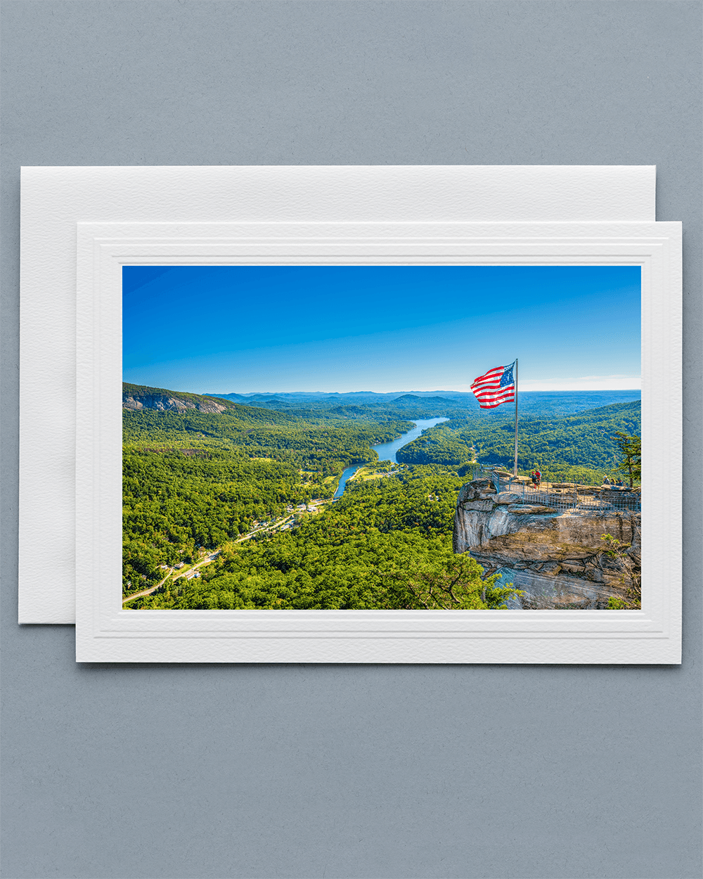 Lavilo Greeting Card - Front Image of Chimney Rock