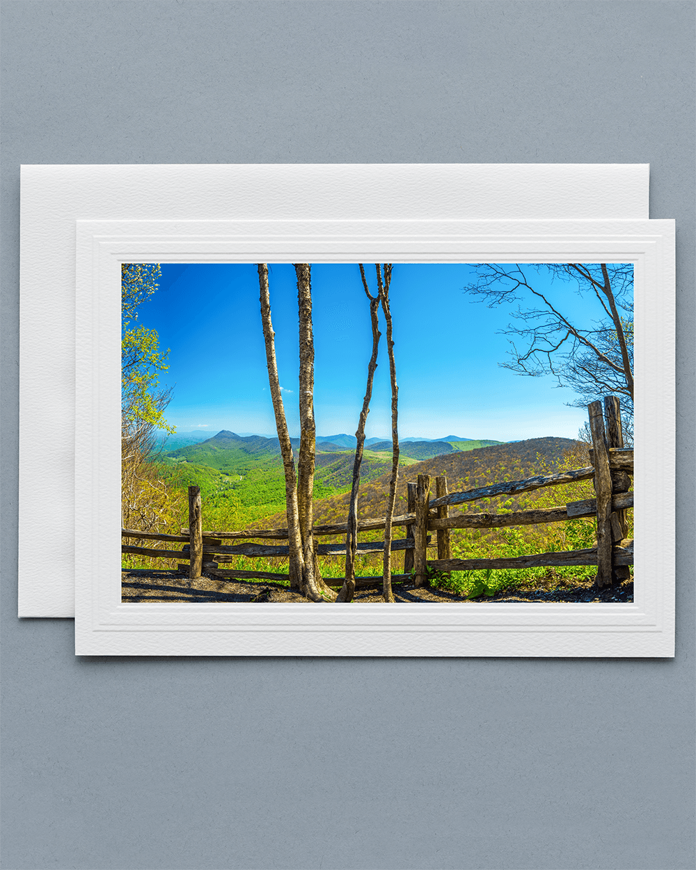 Lavilo Greeting Card - Front Side with Image from Trail to Elk Knob