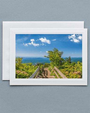 Lavilo Greeting Card - Front Side with Image from Rough Ridge Overlook, Blue Ridge Mountains