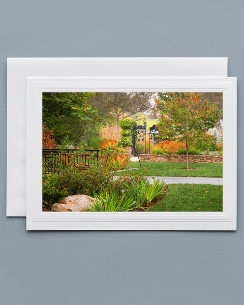 Lavilo™ Greeting Cards - Front Side - Fall at the NC Arboretum - Blue Ridge Mountains
