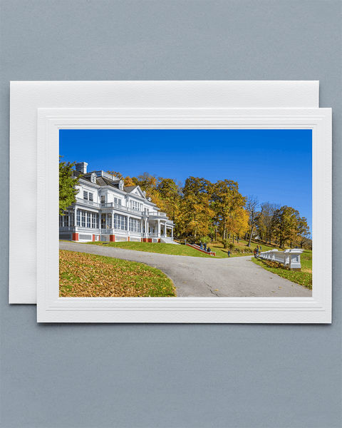 Lavilo™ Greeting Cards - Front Side Flat Top Manor at Moses H Cone Memorial Park - Blue Ridge Mountains