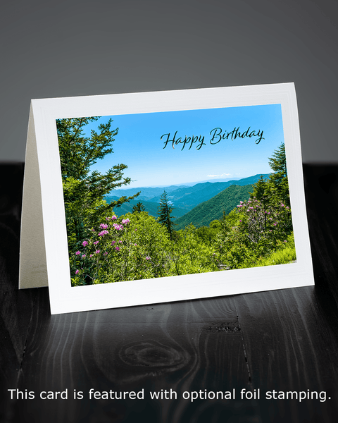Lavilo™ Greeting Cards - Front Side - View from the Blue Ridge Parkway at Spring