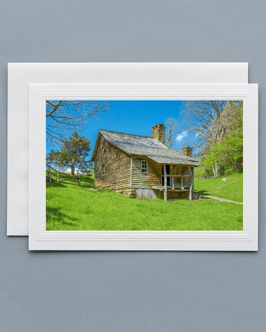Lavilo™ Greeting Cards - Front Side Brinegar Cabin Blue Ridge Parkway