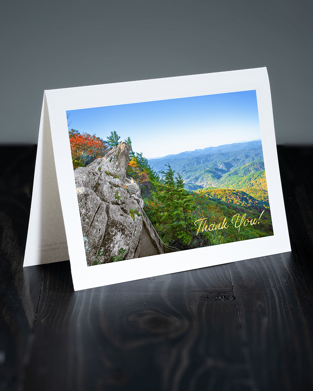 Lavilo™ Greeting Cards - Front Side - The Blowing Rock - Blue Ridge Mountains