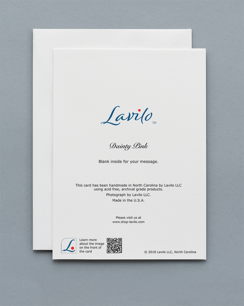 Lavilo™ Greeting Cards - Reverse Side with the Title DAINTY PINK