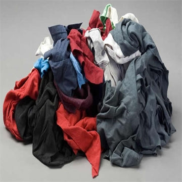 Color Knit T-Shirt Wiping Rags - 50 lbs Box