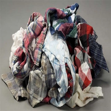 Color Flannel Wiping Rags - 10 lbs Box