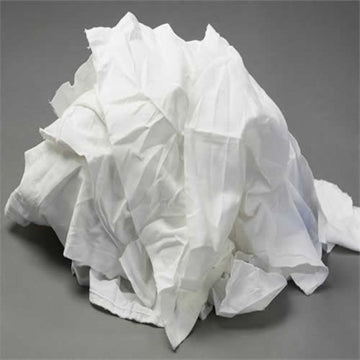 Mixed White Recycled Rags - 50 lbs Box