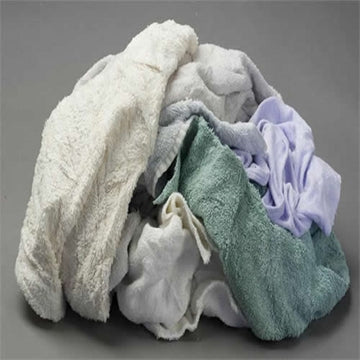 Color Terry Towel Wiping Rags - 25 lbs Box