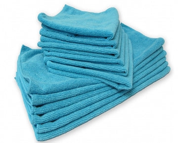 Microfiber Towels - 12 Count - Blue/Green
