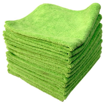 Microfiber Towels - 100 Count - Blue/Green