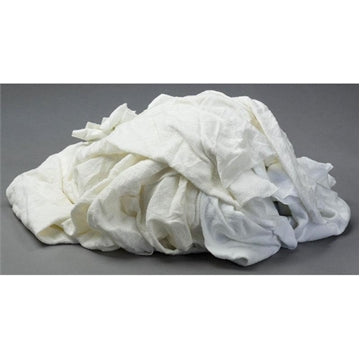 White Flannel/Thermal Wiping Rags - 10 lbs Box