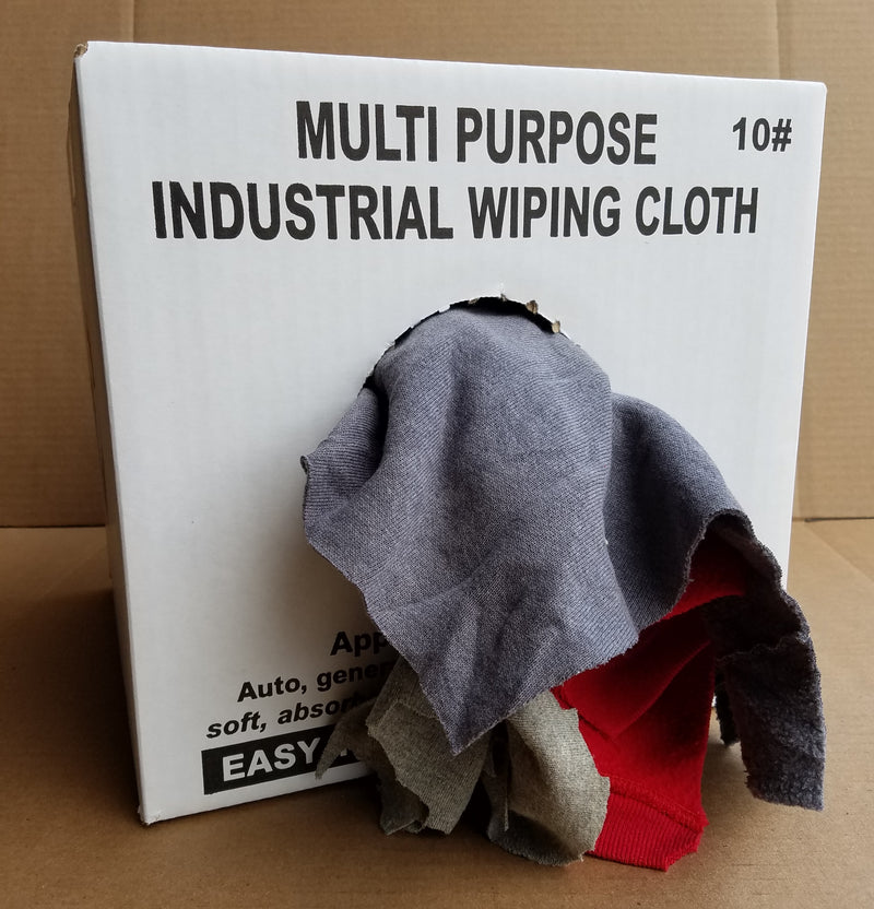 Gray Knit T-Shirt Wiping Rags - 10 lbs Box
