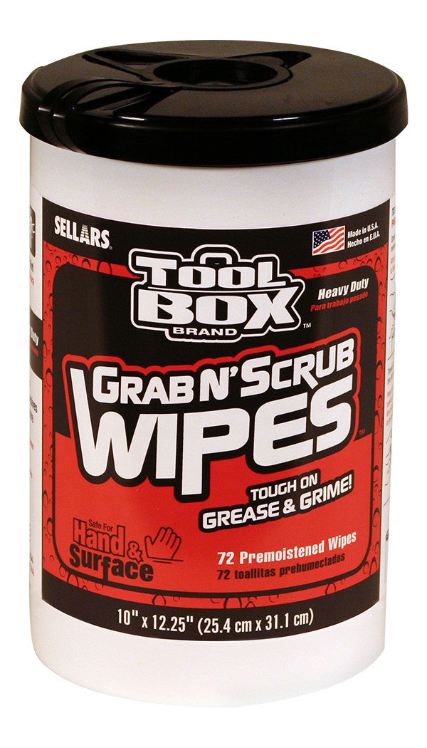 TOOLBOX® Grab N' Scrub® Wipes- 72ct