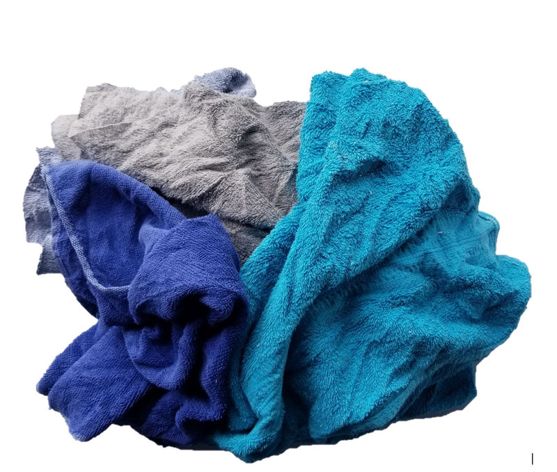 Color Terry Cloth Towel Rags in Bag 10 lbs.