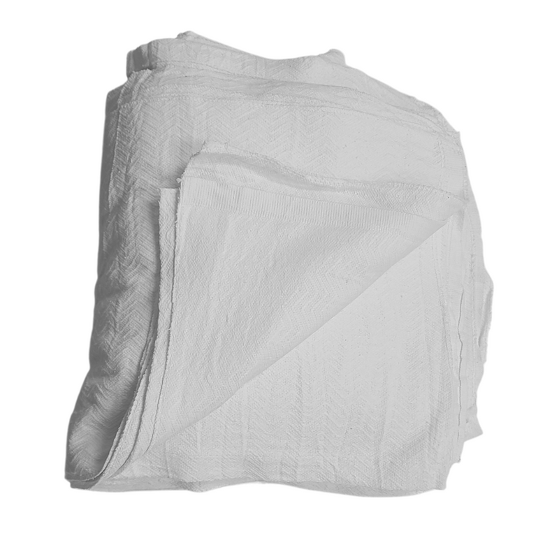 Heavyweight White 100% Cotton Rags- 40 lbs Box