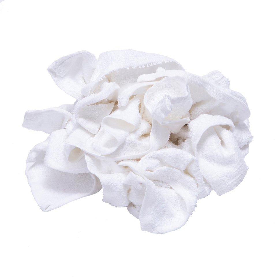 New Terry White Washcloth Rags Bulk 600lbs Pallet