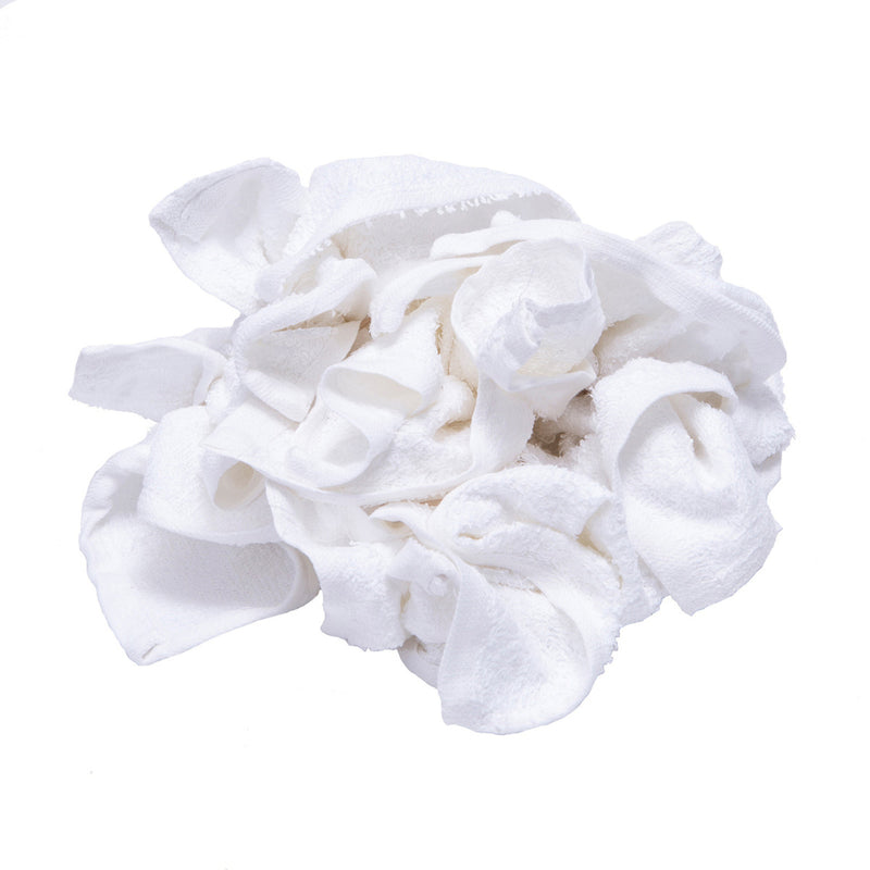 New Terry White Washcloth Rags Bulk 25lbs