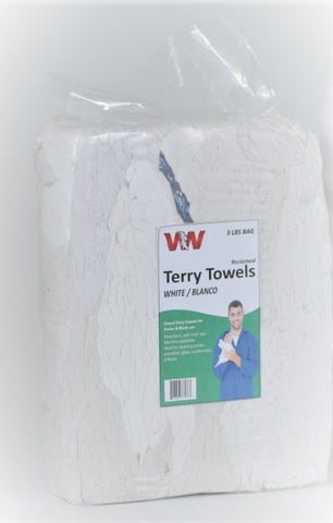 White Turkish Terry Towels Rags