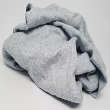Gray Knit T-Shirt Wiping Rags - 25 lbs Box