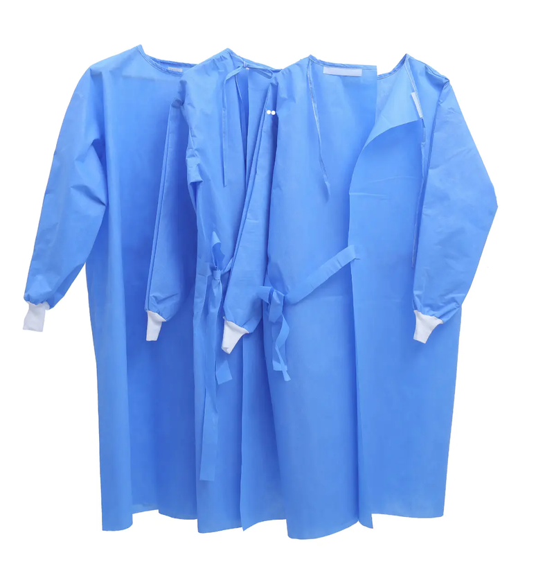 Isolation Gowns Blue 40GSM - FDA Certified