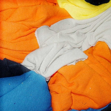 New Color Knit T-Shirt Wiping Rags - 600 lbs Pallet