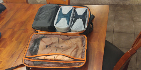 knack pack with packing cubes
