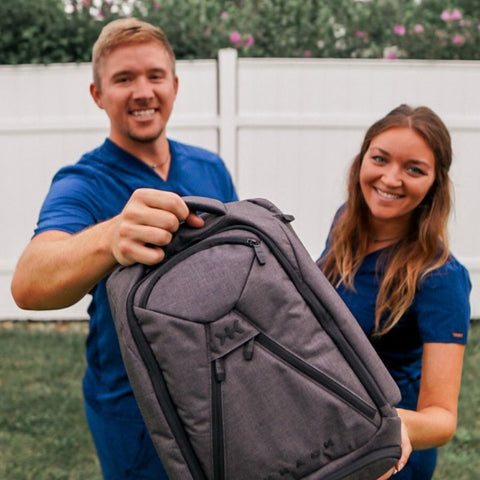 Wereoutnabout with expandable knack pack for nurses