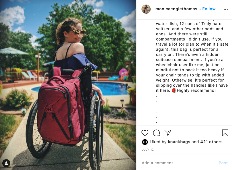 Best laptop backpack for wheelchair users
