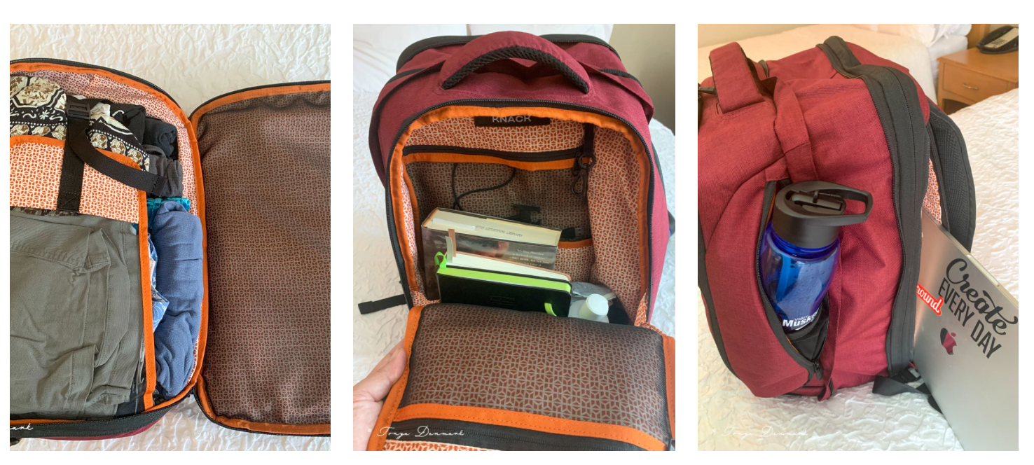 Working on the road - laptop backpack