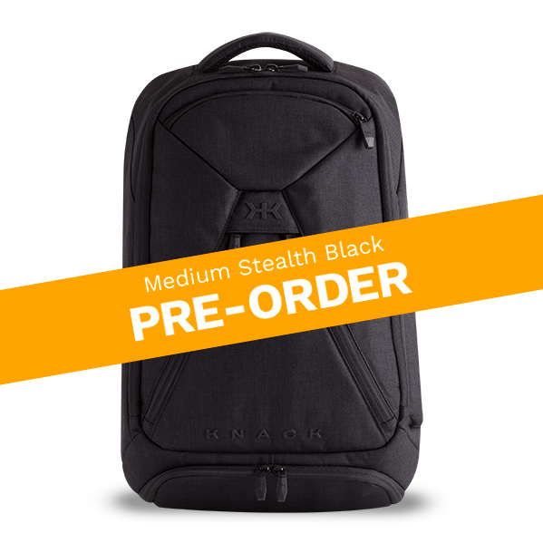 Pre-order the Medium Knack Pack in Stealth Black