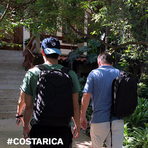 Corey and Bill packed light using their Knack Packs for a father and son bonding trip to Costa Rica