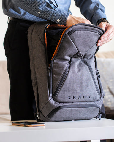 Al Andrei Albay packing his Knack Pack in Savile Gray