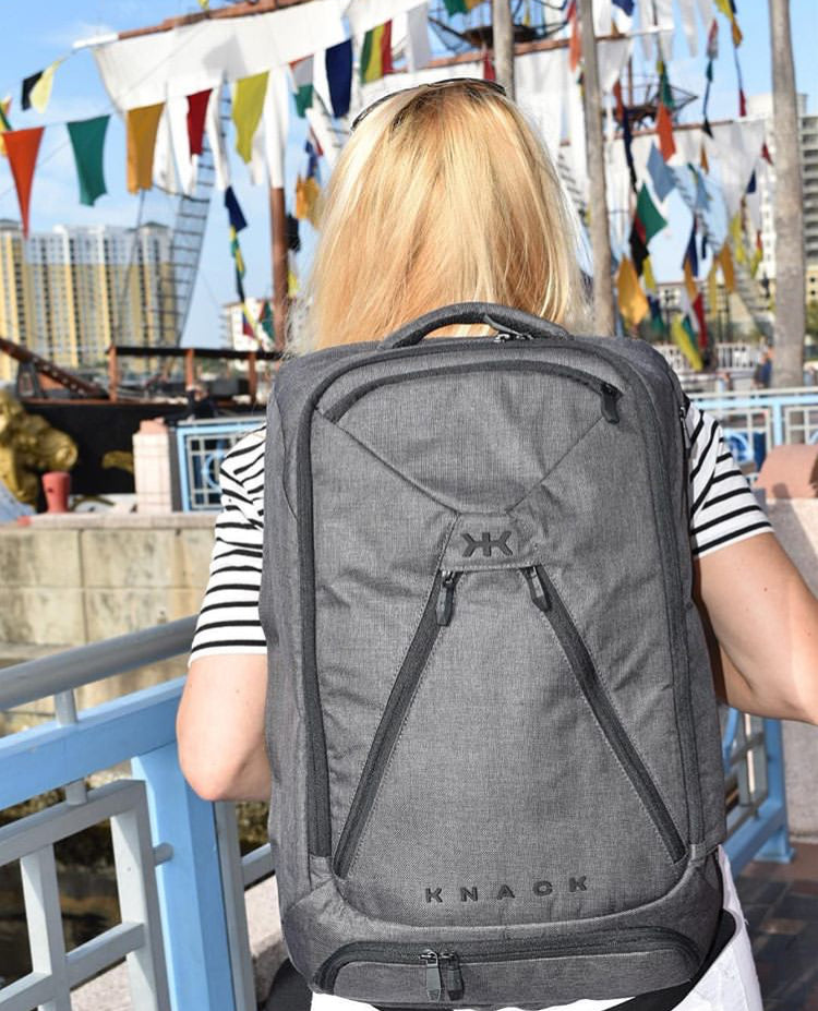 Jen Truman using her Knack Pack for a weekend getaway with her husband in Florida