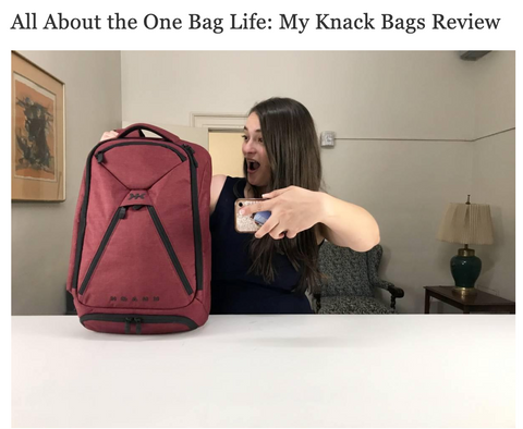 Popular travel blogger reviews carryon bag backpack