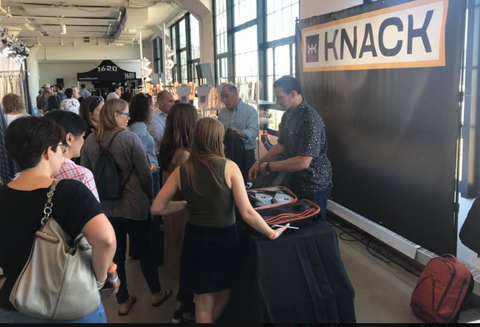 The Knack Bags Booth at American Field Boston