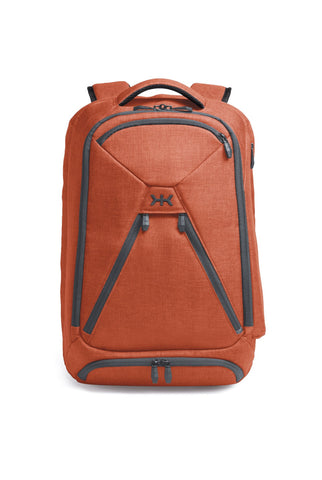Unique professional backpack in Sienna Orange